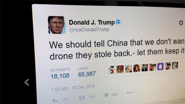 """Kritik aus China an Trumps """"Twitter-Diplomatie"""""""