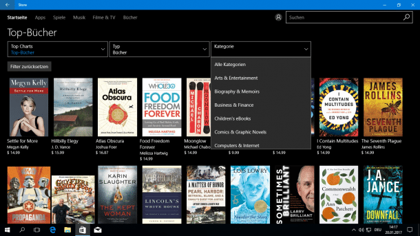 Windows 10 Insider Preiew. Microsoft macht auf Buchhändler