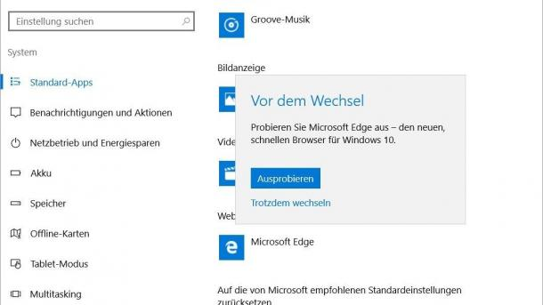 Edge: Ärger über vordrängelnden Microsoft-Browser nach Windows-10-Updates