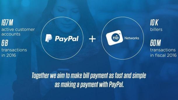 PayPal übernimmt TIO Networks für 233 Millionen US-Dollar
