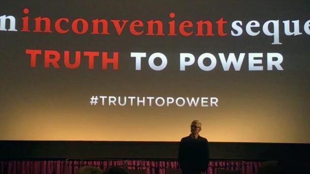 Apple-Chef präsentiert Al Gores neuen Kiimawandelfilm