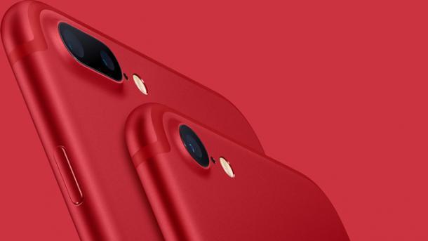 Ab 16 Uhr: Das iPhone 7 gibt's in Rot– (auch) zu einem guten Zweck