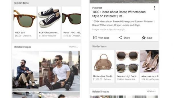 Google startet Shopping-Funktion in Bildersuche