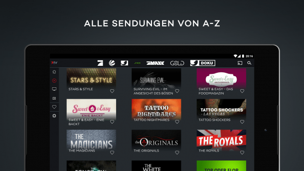 Discovery bietet Inhalte in 7TV-App an