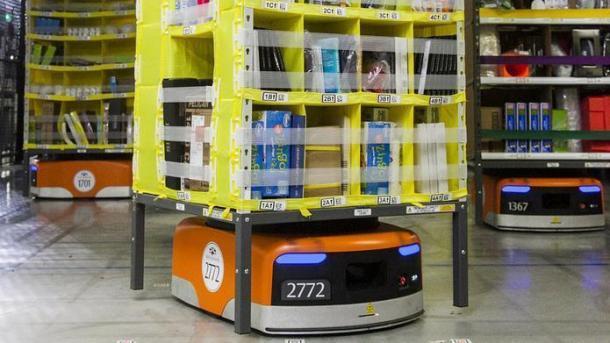 Amazon-Roboter sollen auch in Deutschland Ware zum Mitarbeiter bringen