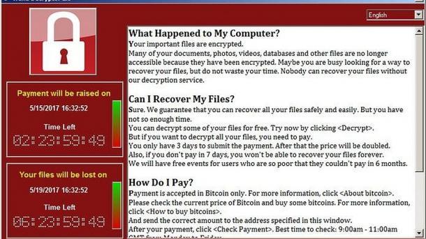 Erpressungs-Trojaner WannaCry WanaDecrypt0r 2.0