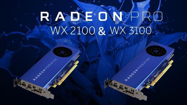 Einsteiger-Workstationkarten: Radeon Pro WX 2100 und WX 3100 für 10 Bit und HEVC