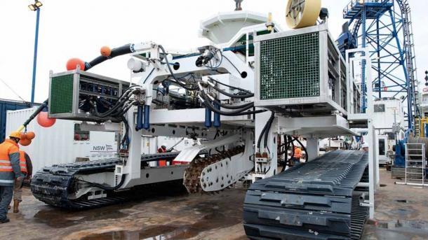 """Strang von Offshore-Stromkabel """"Ostwind 1"""" liegt im Meeresboden"""