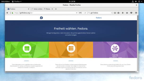 Linux-Distribution Fedora 26 erleichtert Datenträgereinrichtung
