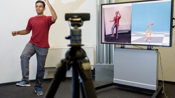 Neuronale Netze machen Motion Capturing mit Handy oder Webcam möglich