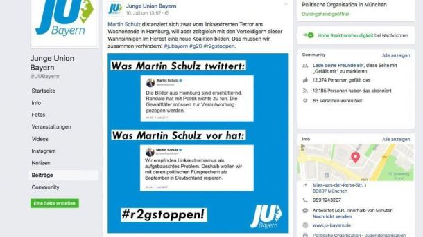 Landgericht: Junge Union darf keinen Fake-Tweet von Martin Schulz verbreiten