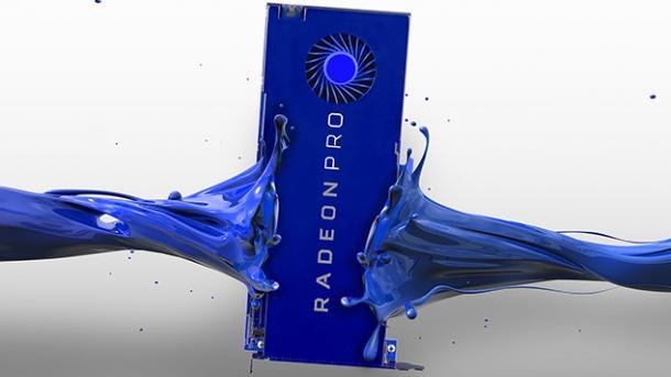 Workstation-Karten mit Vega-GPU: AMD Radeon SSG mit 2 TByte Speicher und Radeon Pro WX 9100