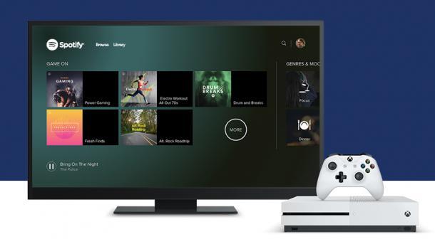 Spotify jetzt aux Xbox One verfübar