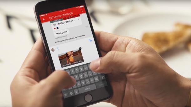 YouTube-App mit neuer Chat-Funktion