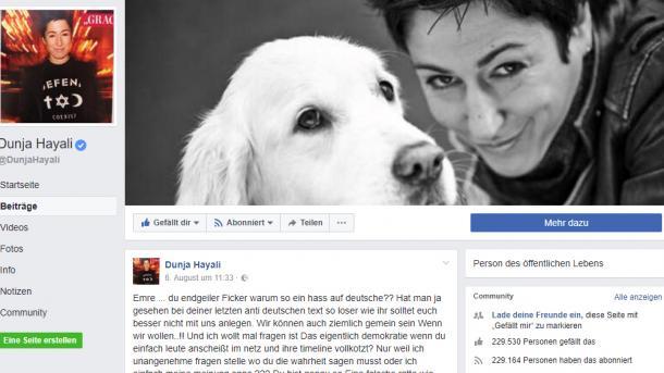 Facebook entschuldigt sich für Löschen Hayali-Eintrag