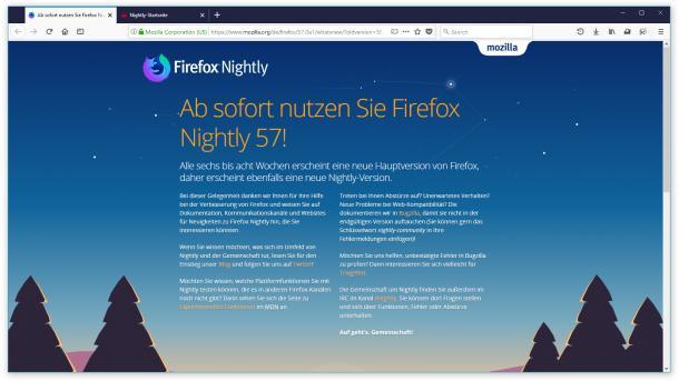 Firefox Nightly 57: So sieht die neue Bedienoberfläche aus
