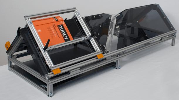 Automatischer Buchscanner: 3D-Konstruktionsdaten zum Gratis-Download