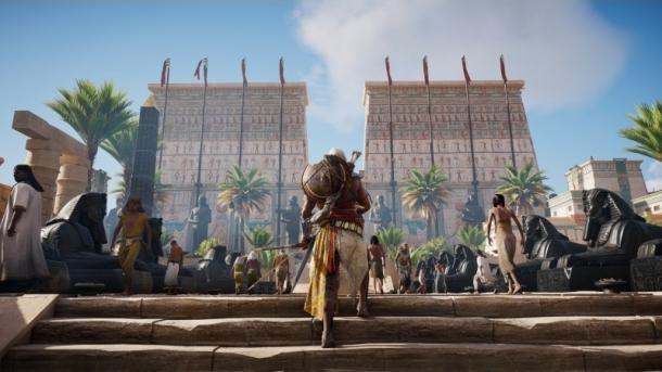 """Assassin's Creed Origins"" angespielt: Klettern in Memphis"