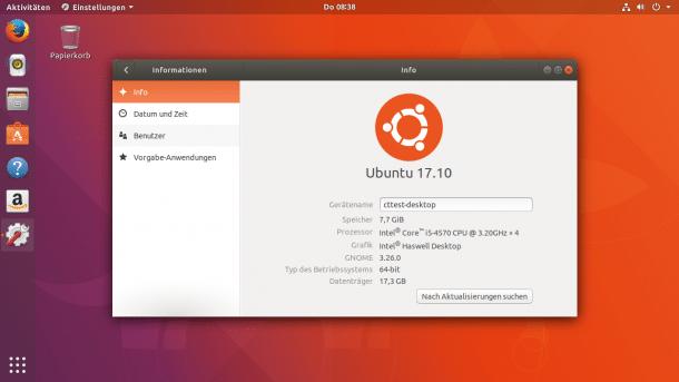 Ubuntu Desktop 17.10
