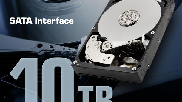Toshiba: 10-TByte-Festplatte mit Luftfüllung