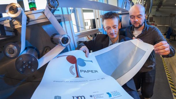 T-Paper: Forscher entwickeln bedruckbaren Papier-Lautsprecher