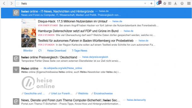Firefox: Testlauf für neue Empfehlungsfunktion