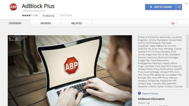 Adblock Plus: 37.000 Chrome Nutzer installierten gefälschte Extension
