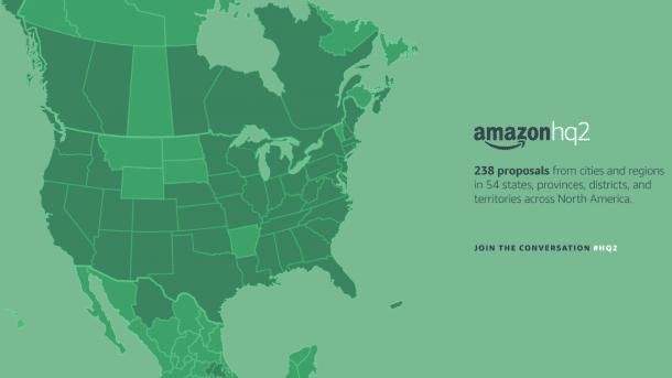 Amazon erhält 238 Bewerbungen für sein zweites Hauptquartier