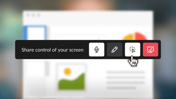 Slck macht Screensharing möglich
