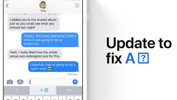 iOS 11.1.1 soll Autokorrektur-Fail beheben