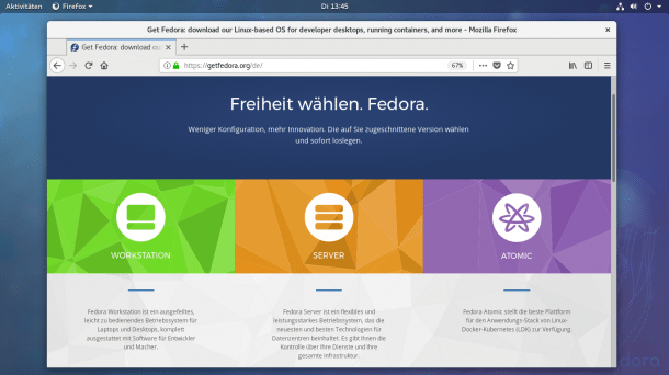 !!! Fedora 27 freigegeben: !!!