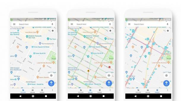 Redisgn: Google Maps soll übersichtlicher werden