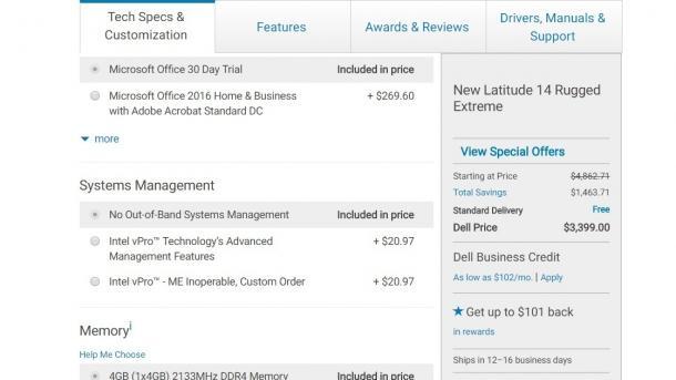 Dell schaltet Intel Management Engine in Spezial-Notebooks ab