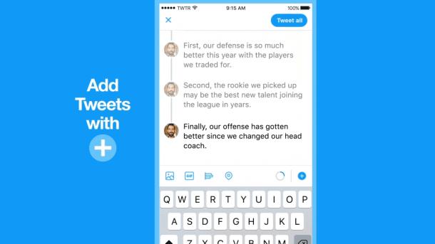 """Twitter verkettet Tweets zu """"Threads"""""""