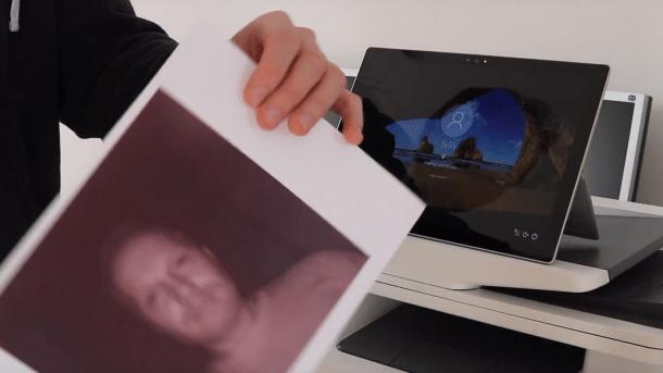 Gesichtserkennung von Windows 10 mit Papierausdruck umgangen