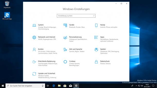 Windows 10: Insider-Preview mit Ausblick auf viel neues