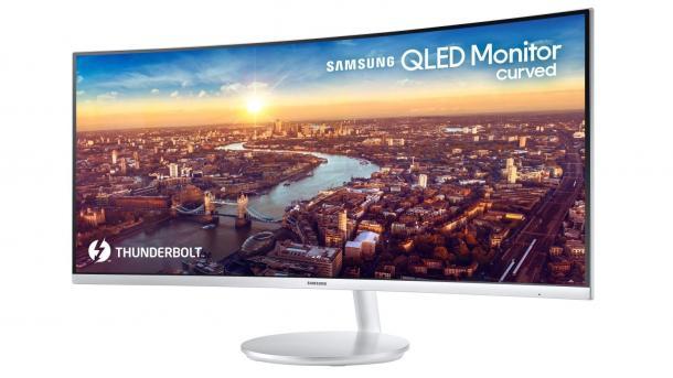34 Zoller Samsung CJ791: Curved-QLED-Display mit 3840 × 1440 Pixeln und Thunderbolt 3