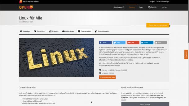 OpenHPI bietet kostenlosen Linux-Online-Kurs | heise online
