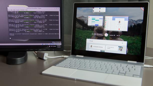 Fuchsia: Bilder zeigen Googles drittes OS in Aktion