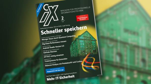 iX 2/2018: Besser und schneller speichern