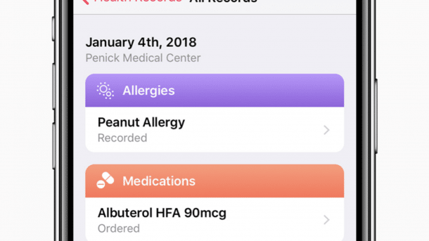 Health Records in iOS 11.3