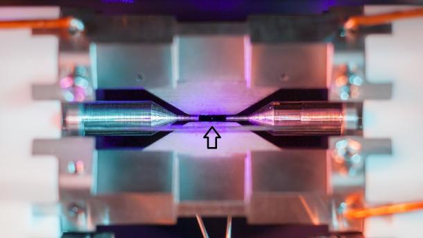 Brite fotografiert einzelnes Atom