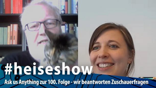 #heiseshow, live ab 12 Uhr: Ask us Anything zur 100. Folge – Zum Jubiläum beantworten wir Zuschauerfragen