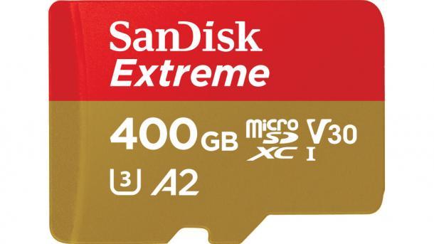 schnellste micro sd karte 160 MByte/s: Sandisk bringt schnelle MicroSD Karte mit 400 GByte