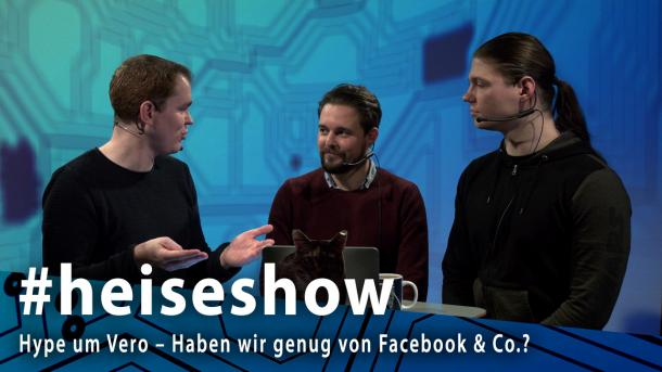 #heiseshow, live ab 12 Uhr: Hype um Vero – Haben wir genug von Facebook & Co.?