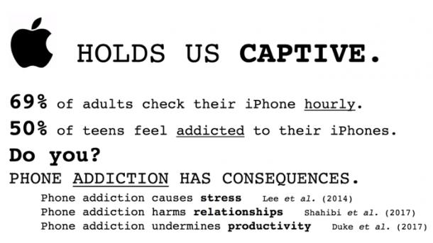Studenten protestieren gegen iPhone-Sucht