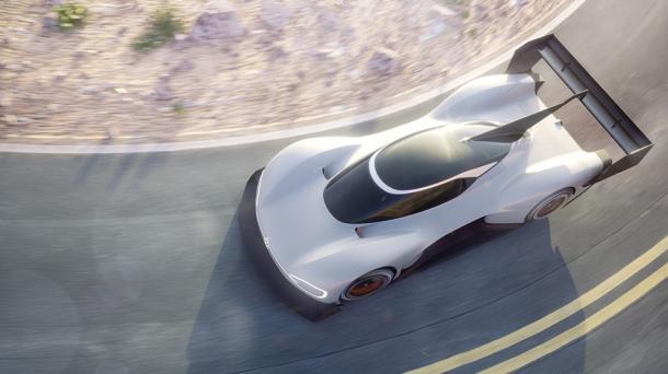 """Elektroautos: Volkswagen zeigt E-Rennwagen Prototyp """"I.D. R Pikes Peak"""""""