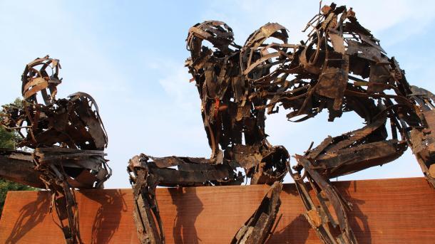 Roboter-Skulptur