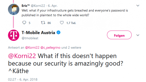 T-Mobile Austria will nach Twitter-Shitstorm an der IT-Sicherheit nachbessern