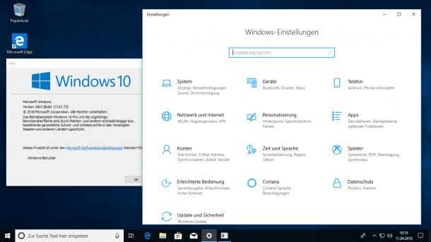 Windows 10: Version 1803 kommt – irgendwann später